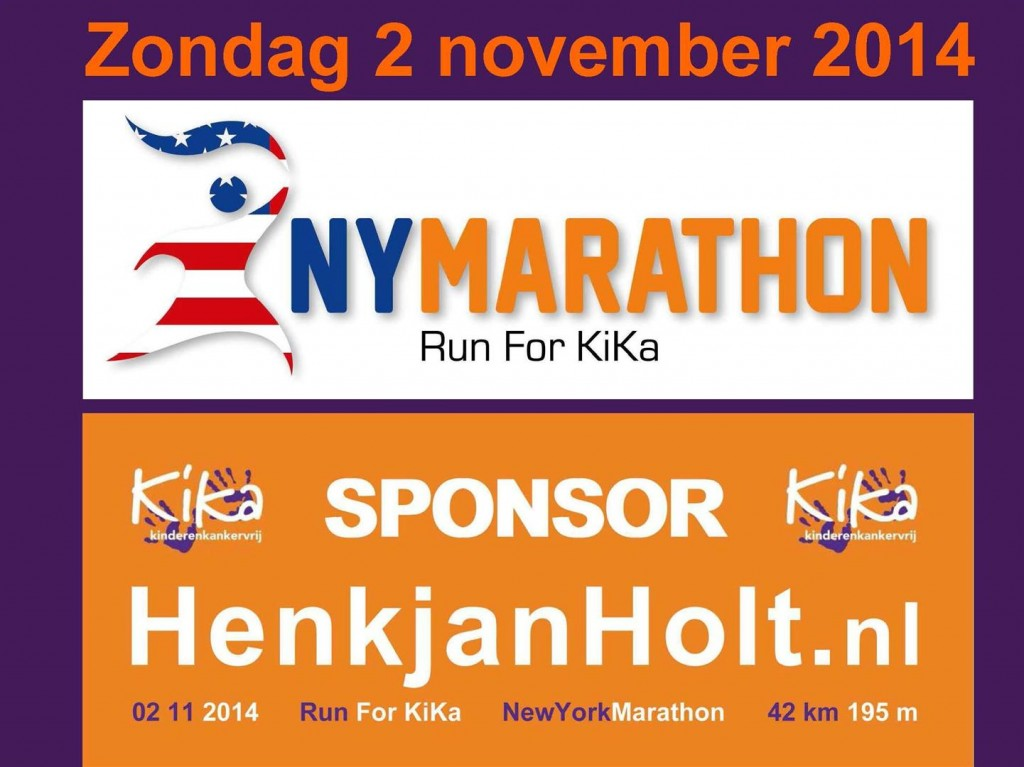 Henkjan Holt Run For KiKa New York 2014